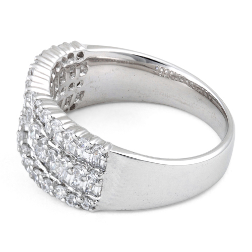 sterling silver elegant helix clear cz ring. Black Bedroom Furniture Sets. Home Design Ideas