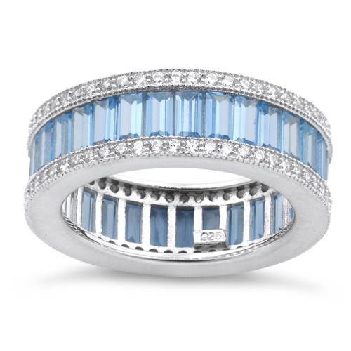 band products sets sapphire bands gem full eternity aquamarine engagement gold white ring round lord of