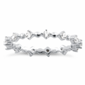 Sterling Silver Eternity Thin CZ Ring