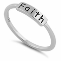 "Sterling Silver ""Faith"" Ring"