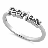 "Sterling Silver ""Fearless"" Ring"