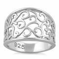 Sterling Silver Filigree Caged Ring