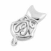 Sterling Silver Filigree Cat Pendant