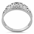 Sterling Silver Filigree Flower Ring