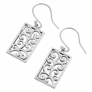 Sterling Silver Filigree Hook Earrings