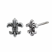 Sterling Silver Fleur de Lis Earrings