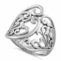 Sterling Silver Floral Vines Ring
