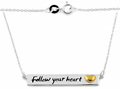 """Sterling Silver """"Follow your heart"""" Two-tone Necklace"""