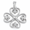 Sterling Silver Four Hearted Pendant