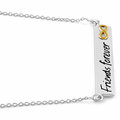 """Sterling Silver """"Friends Forever"""" Infinity Two-tone Necklace"""