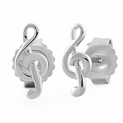 Sterling Silver G-clef Earrings