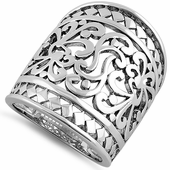Sterling Silver Grand Artistic Ring