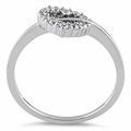 Sterling Silver Heart CZ Ring