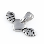 Sterling Silver Heart Winged Pendant