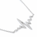 Sterling Silver Heartbeat Necklace
