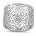 Sterling Silver Hearts Band Ring