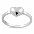 Sterling Silver High Polish Heart Ring