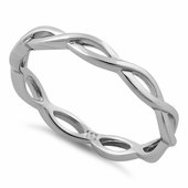 Sterling Silver Infinity Fish Ring