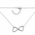 Sterling Silver Infinity Heart CZ Necklace