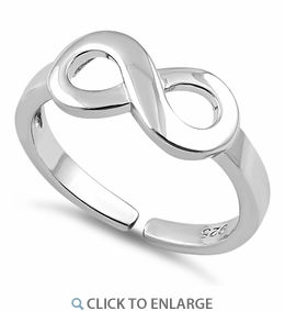 Sterling Silver Infinity Toe Ring