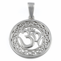 """Sterling Silver Intricate """"Om"""" Pendant"""