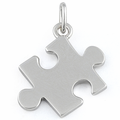 Sterling Silver Jigsaw Puzzle Piece Pendant
