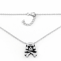 Sterling Silver Jolly Roger Skull Necklace