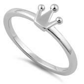 Sterling Silver King's Crown Ring