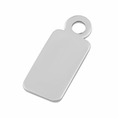 Sterling Silver Large Name Tag with Ring - PACK OF 10