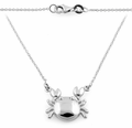 Sterling Silver Cancer Zodiac Sign Necklace