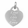 """Sterling Silver """"Live The Life You Love"""" Pendant"""