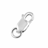 Sterling Silver Lobster w/ Ring 8 x 3mm - PACK OF 6