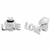 Sterling Silver Love Earrings