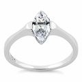 Sterling Silver Marquis Clear CZ Ring