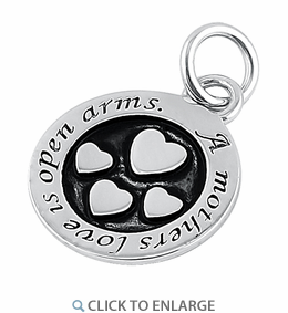Sterling Silver Mothers Love Pendant