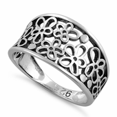 Sterling Silver Multiple Plumeria Ring