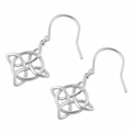 Sterling Silver Mystic Protection Hook Earrings