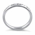 """Sterling Silver """"Near Or Far, You Are Always In My Heart"""" Ring"""