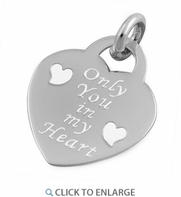 "Sterling Silver ""Only You In My Heart"" Pendant"