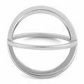 Sterling Silver Overlapping X Ring
