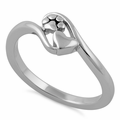 Sterling Silver Paw & Heart Ring