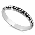 Sterling Silver Pebbles Ring