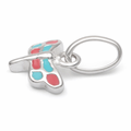 Sterling Silver Pink and Blue Enamel Dragonfly Small Charm