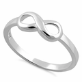 Sterling Silver Plain Infinity Ring