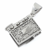 Sterling Silver Prayer Book Pendant