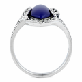 Sterling Silver Blue Lapis Marquise Marcasite Ring