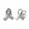 Sterling Silver Ribbon Earrings