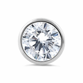 Sterling Silver Round CZ Pendant