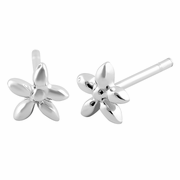 Sterling Silver Santan Flower Earrings