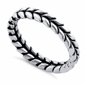 Sterling Silver Scales Eternity Ring